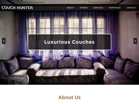 couch hunter couch hunter bootstrap furniture template freemium download