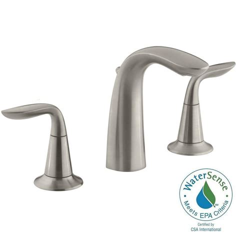 kohler faucets kitchen sink kohler refinia 8 in widespread 2 handle bathroom sink faucet in brushed nickel k 5317 4 bn