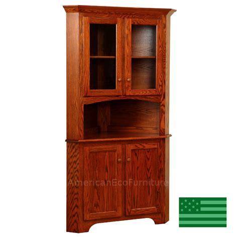 Corner Cabinet Hutch by Made In America Amish Corner Cabinets Hutches American