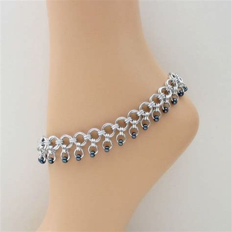 beaded chainmaille jewelry patterns 17 best images about anklets on free pattern