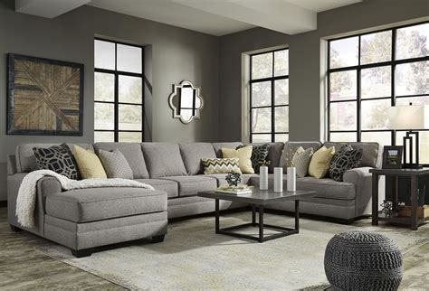 Large Sectional by Cresson Pewter Laf Large Chaise Sectional 54907 Sec4