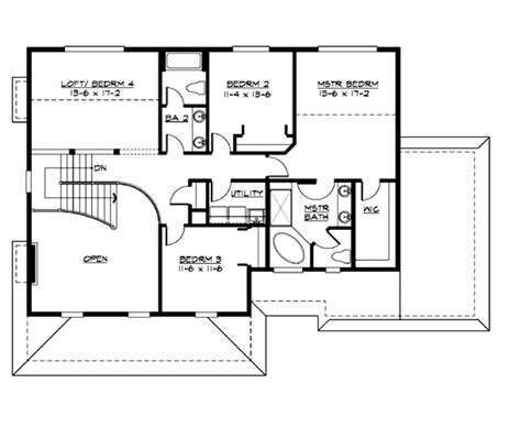5 sq feet farmhouse style house plan 4 beds 2 50 baths 2700 sq ft