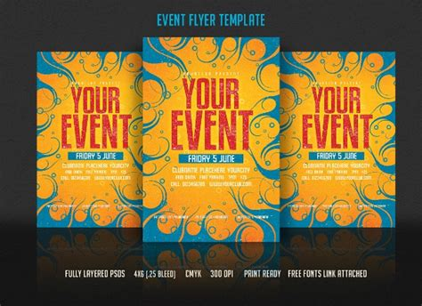 Event Flyer Templates Free Doliquid Free Pdf Flyer Templates