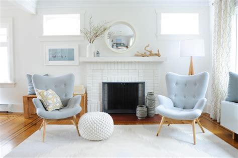 Simply Home Decorating by Scandinavian Inspired Family Home Beach Style Living