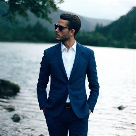 Jas Blazer Blue Navy navy suit blazer jas blazer pria f