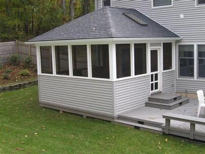 Hip Roof With Deck Screened In Deck With Hip Roof Screened Porch W Kneewall