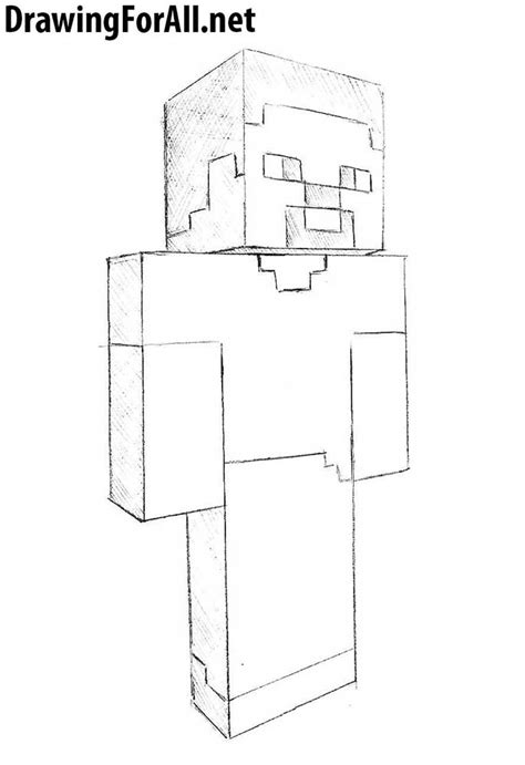 How To Draw Minecraft how to draw steve from minecraft drawingforall net