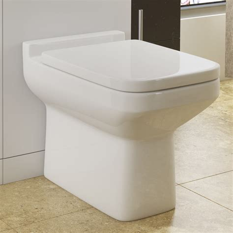 Plumb Back To Wall Toilet by Monza Square Back To Wall Toilet Soft Seat