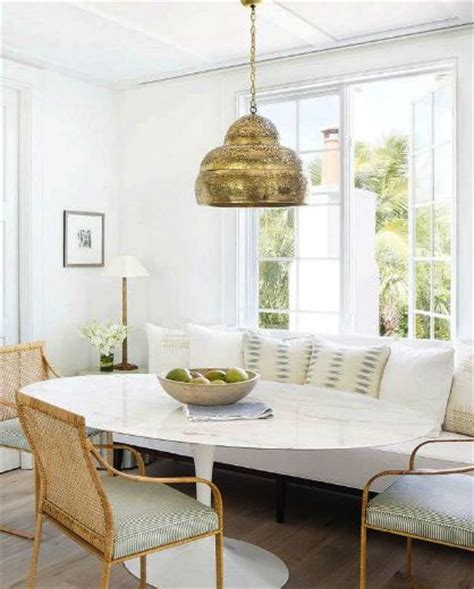 breakfast nook lighting breakfast nook featuring white furniture straw accents