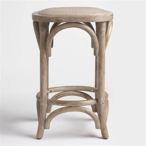 Rattan Bar Stools World Market by Gray Yasmin Backless Counter Stool With Rattan Seat