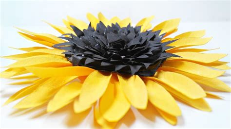 How To Make Sunflowers Out Of Tissue Paper - diy paper sunflower flower for wall backdrop decoration