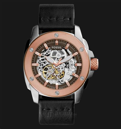 Fossil Me3082 Modern Machine fossil me3082 modern machine automatic black leather