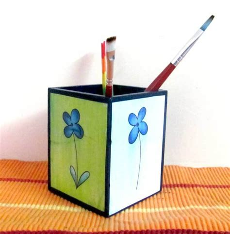 pen stand craft for decoupage pen holder craft for