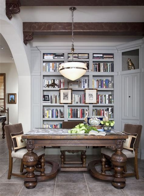 library dining traditional dining room austin  shorelines interiors
