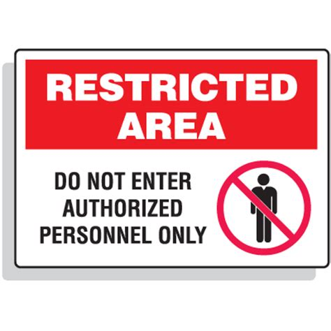 Door Sign Generator by Restricted Area Signs Do Not Enter Authorized Personnel