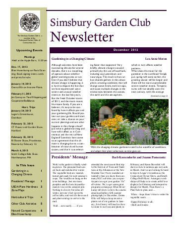 club newsletter templates newsletter template letchworth district gardeners