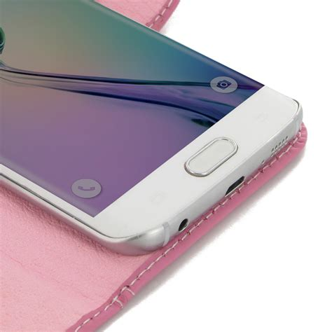 Zagbox Flip Cover Samsung Galaxy S6 Edge Pink samsung galaxy s6 edge leather flip carry cover petal pink pdair