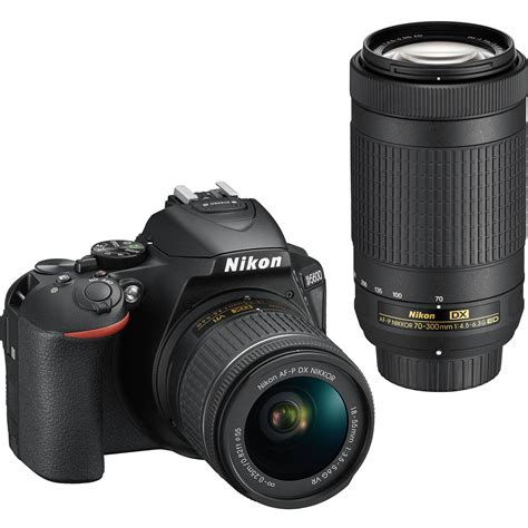 nikon d5600 dslr with 18 55mm and 70 300mm lenses 1580