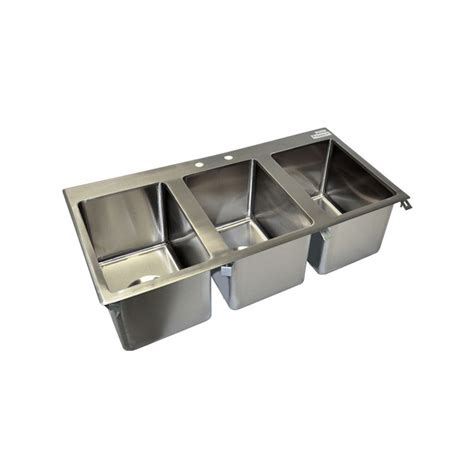 3 compartment drop in sink bk resources 3 compartment stainless steel drop in sink