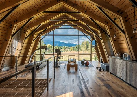 wyoming rustic barn house