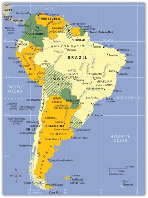 south america map desert chapter 6 south america world regional geography