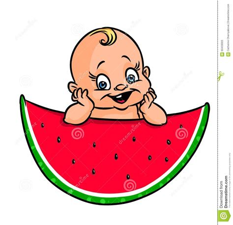 Jumping Beans Gir Watermelon Pink 2d baby watermelon illustration stock illustration image 60433003