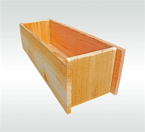 herb planter box herb garden cedar wooden window planter flower box gift for