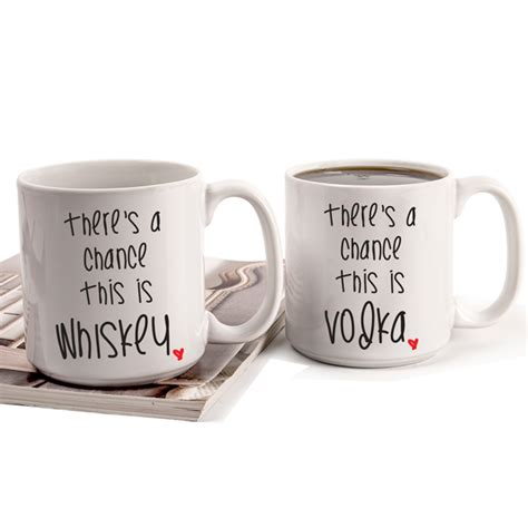 "Personalized 20 oz. ""There's a Chance"" Large Coffee Mugs (Set of 2)"