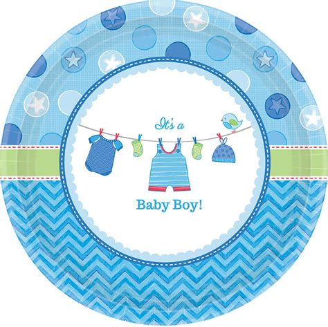 City Baby Shower Plates by Baby Shower Boy Shower With Dessert Plates 8