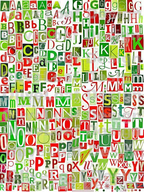 printable alphabet christmas red green christmas printable digital alphabet a to z