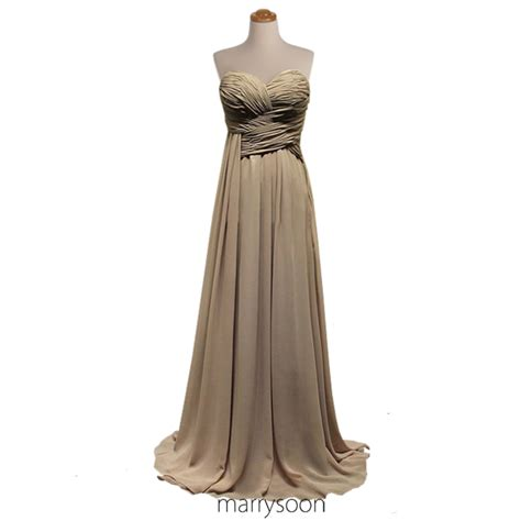 neutral colored dresses earth colored pleated chiffon bridesmaid dress neutral