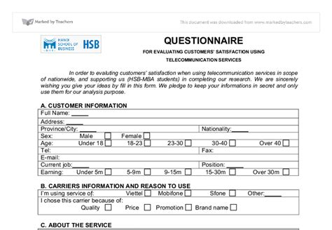 customer service survey template 27 images of customer service questionnaire template for