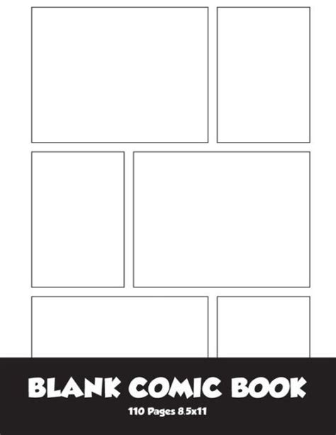 6 panel comic template blank comic blank comic book 8 5x11 with 6 panel