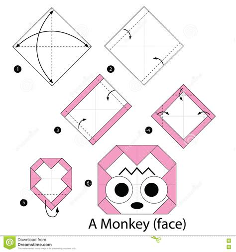 How To Make A Origami Monkey - step by step how to make origami a monkey