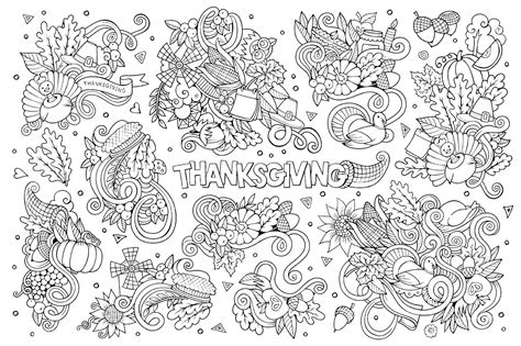 thanksgiving coloring pages for adults thanksgiving doodle 2 thanksgiving coloriages