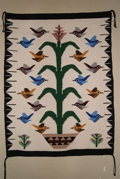 tree of navajo rug navajo tree of with 18 birds weaving