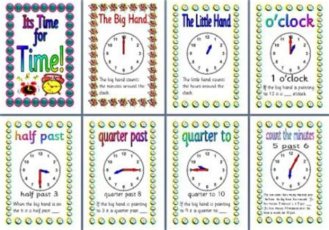 printable clock poster instant display teaching resources resource preview