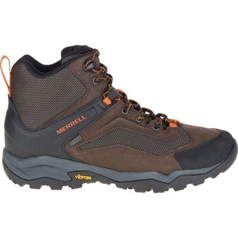 mens waterproof hiking boot merrell everbound vent mid waterproof hiking boot s