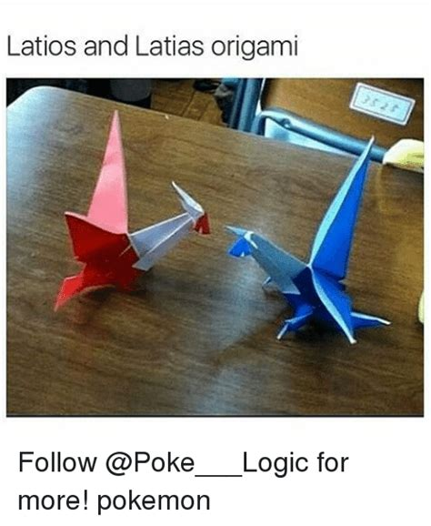 Origami Latios - latios and latias origami follow for more logic