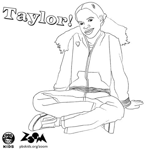 zoom coloring page zoom printables taylor s coloring page pbs kids