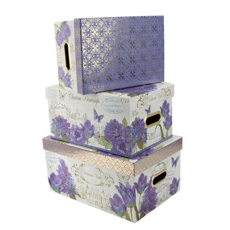 home decor boxes tri coastal design set of 3 nesting storage box steamer
