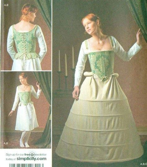 patterns sewing historical simplicity historical under garments costume sewing
