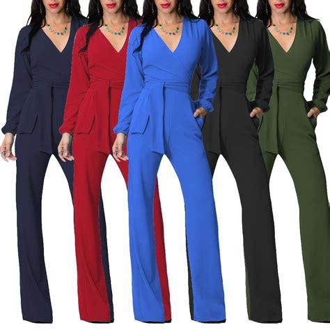 Agnes Jumpsuit Jumpsuit Black Jumpsuit Polos Fashion Promo Sale Sg autumn black army green v neck jumpsuits casual sleeve jumpsuit