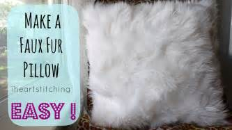 How To Make Pillow Fluffy Again by How To Make A Faux Fur Pillow