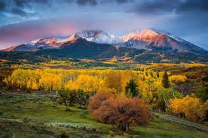 color colorado united states state colorado autumn mountain mount sopris