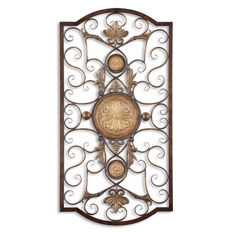 metal ornaments home decor uttermost micayla large metal wall art ebay