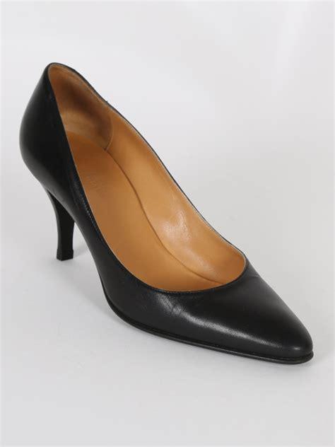Hermes Black herm 233 s black leather pumps 37 luxury bags