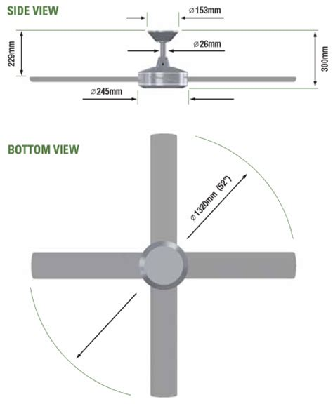 Ceiling Fans Sizes eco fan blade dimensions crafts