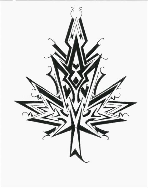 tribal pot leaf tattoo designs maple leaf design tribal style by nox dracoria on deviantart