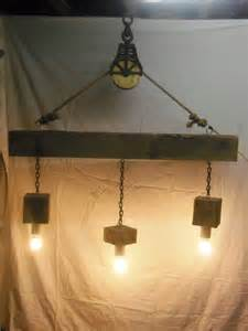 pulley chandelier beam wood light fixture and pulley pendant light id lights